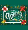 christmas green design template vector image vector image