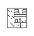 clothes closet wardrobe line icon vector image