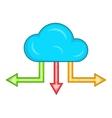 Cloud and arrows icon cartoon style vector image