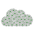 cloud composition of cannabis icons vector image vector image