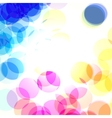 color bokeh transparent vector image vector image