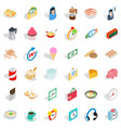 cook icons set isometric style vector image vector image