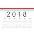 Croatian 2018 year calendar vector image vector image