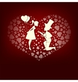 Design in love boy and girl vector image