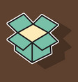dropbox color icon realistic icon or logo sticker vector image vector image