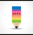 educational concept - Pencil with education text vector image