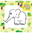 elephant coloring page vector image vector image