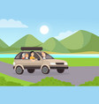 family road trip flat mother vector image vector image