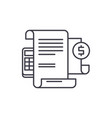 financial instructions line icon concept vector image