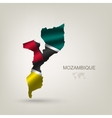 flag of Mozambique as a country vector image vector image