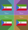 Flags Equatorial Guinea Set of colors flat design vector image vector image