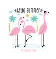 flamingos for t-shirt design vector image