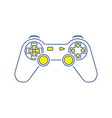 gamepad icon vector image vector image