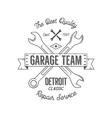Garage service vintage tee design graphics vector image vector image