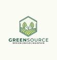 gardening logo design inspiration idea concept vector image vector image