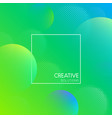 green creative solutions background with bubbles vector image vector image