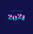 happy new year 2021 greeting card design template vector image vector image