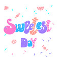happy sweetest day logo simple style vector image vector image