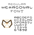 Hexagonal ABC Geometric Font Letters and Digits vector image vector image