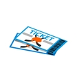 hockey tickets isometric 3d icon vector image vector image