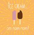 Ice creams background vector image