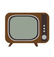Isolated retro television vector image vector image