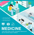 isometric healthcare colorful concept vector image vector image