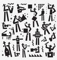 jazz band logo musicians symbol vector image vector image