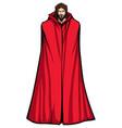 jesus superhero standing tall vector image vector image