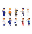 kids in various professions set vector image