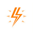 lightning with flash orange logo energy vector image vector image