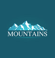 logo of alpine mountains vector image vector image