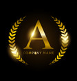 luxury golden letter a for premium brand identity vector image vector image