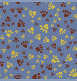 many animal footprints seamless pattern vector image