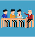 meeting of businessmen vector image