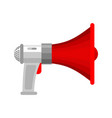 megaphone isolated loudspeaker shout against vector image