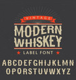 Modern whiskey label font poster