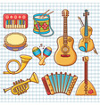 musical instrument ornament cartoon style vector image vector image