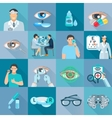 Oculist Ophthalmologist Flat Icons Set vector image vector image