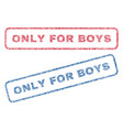 only for boys textile stamps vector image vector image