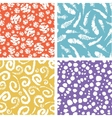 Paint texture elements colorful seamless pattern vector image