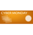 Paper Shopping Bags on Cyber Monday Sale Banner vector image vector image