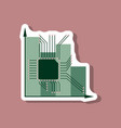 paper sticker on stylish background nanotechnology vector image vector image