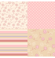 patterns vintage pink vector image