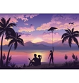 People on tropical beach vector image vector image