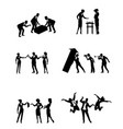 scenes of business people vector image vector image
