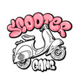 scooter gang graffiti bubble print design vector image vector image