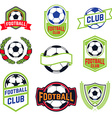 set football emblems vector image vector image