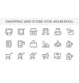 shopping store front icon vector image
