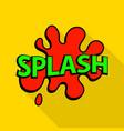 splash icon pop art style vector image vector image